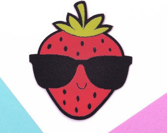 Kawaii Patch - Stocking Fillers - Stocking Stuffers - Kawaii Strawberry - Gifts For Girls - Kawaii Fruit - Cute Patches - Jacket Patches