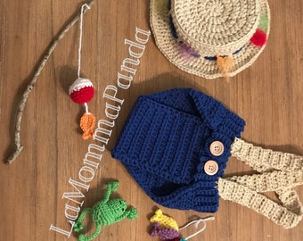 Fisherman Crochet Outfit and Props