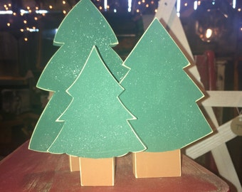 Wooden Evergreen Trees-3 pieces