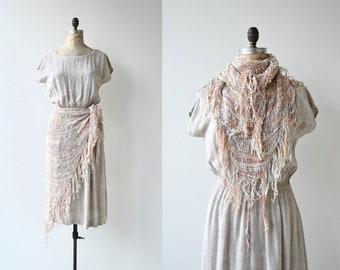 Fiber Arts dress | vintage 1980s woven dress | cotton 80s dress