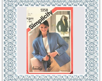 Simplicity 5358 (1981) Misses' unlined boxy jacket - Vintage Uncut Sewing Pattern