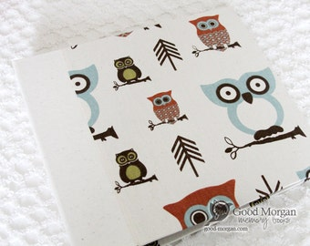 0 to 12 months Baby Memory Book - Owls