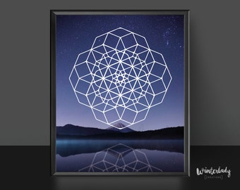 Geometric print wall art   | Printable | Instant Download