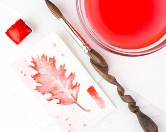 CORTILLION RED Jazper Stardust Handmade Watercolor Half pan