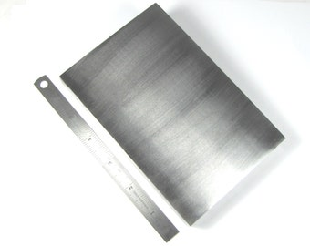 """steel bench block, 6 x 4 x .75 """", large polished block, stamping block, forging metal work"""