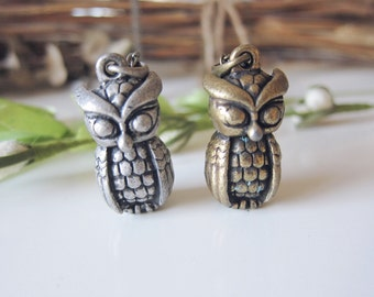 Mister Owl 3D Necklace - Silver Tone-Last One