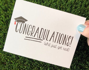 Funny Graduation Card  ConGRADulations Card High School Graduation Card College Graduation Congratulations Graduate Card Congrats Grad Card