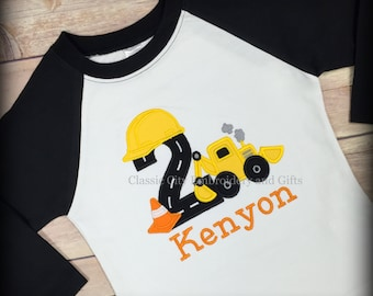 construction shirt,- digger shirt,- construction party,- boy birthday shirt,- first birthday,- second birthday,- third l