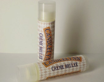Creme Brulee Lip Balm by Candle Lynn - Made with Organic Shea and Cocoa Butters