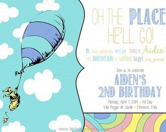 Oh, the places you'll go invitations