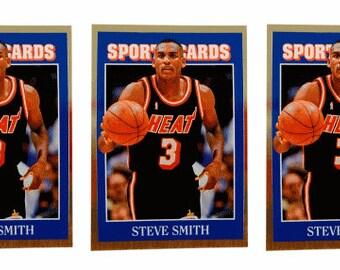 5 - 1992 Sports Cards #62 Steve Smith Basketball Card Lot Miami Heat