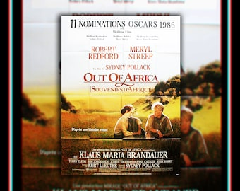 OUT OF AFRICA (1985) Streep Redford Very Rare 4 x 6 ft french Grande Fold Giant Movie Poster Original Vintage Collectible