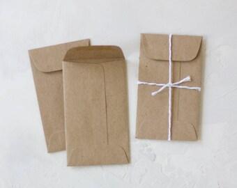 Brown Kraft Mini Open-End Envelopes - 25 pc