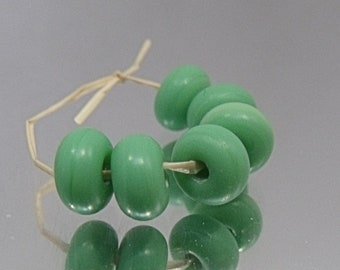 Etched Pea, Artisan Lampwork Glass Beads, SRA, UK