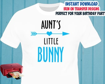 Easter , Easter Bunny Auntie , Iron On Transfer , Easter Auntie Shirt Design , DIY Shirt Transfer , Digital Files , Instant Download