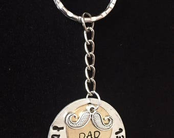 Personalized dad keychain