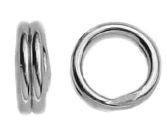 10 Sterling Silver 5mm 6mm Split Rings