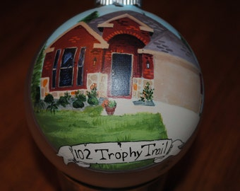 "As for Me and My house, We will serve the Lord""  Custom hand painted Ornament -  SOLD"