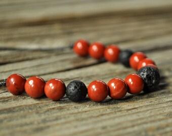 Red Jasper Bracelet, Diffuser Bracelet, Beaded Diffuser, Essential Oils, Oil Diffuser, Yoga Bracelet, Meditation Bracelet, Healing Bracelet