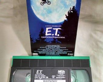 E.T. The Extra Terrestrial VHS Tape