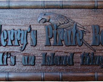 Personalized Bar Sign Custom Pub Brew House Sign Home Bar Decor Pirate Tiki Bar Sign Personalized Wooden Beach house Sign Lake sign PB3