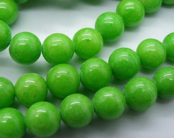 47-48 jade 8 mm grass green radiant
