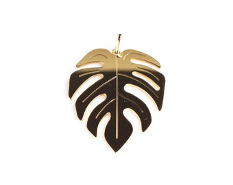 large tropical leaf gold-plated