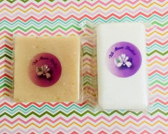 Organic oatmeal soaps - Oatmeal soap set - Honey oatmeal shea butter soap and oatmeal lavender soap
