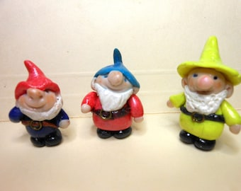 Gnomes-Set of 3-OOAK Polymer Clay Gnome -Set of 3 Gnomes