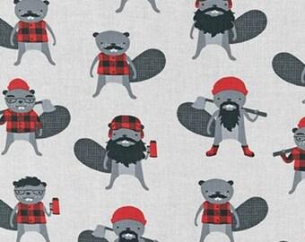 Kaufman - Burly Beavers by Andie Hanna - Beavers - Steel