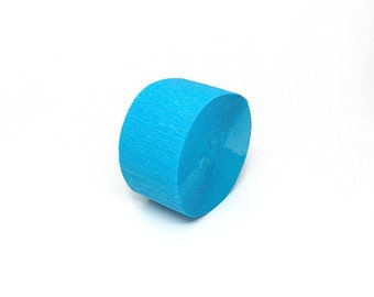 Turquoise Crepe Paper Streamer Roll - 81 Feet Long - Paper Craft Party Supplies