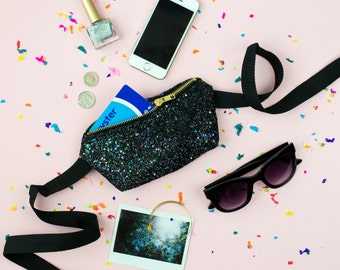 Midnight Glitter Party Bum Bag (Fanny Pack)