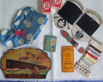 SPRING CLEANING SALE! Vintage Sewing Collectibles, Vintage Needle Books