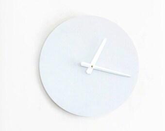 White Wall Clock, Large Wall Clock, Modern Wall Decor,  Wall Clocks, Natural Wood Clock