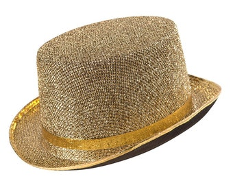 Sparkling Gold top hat - Adult top hat