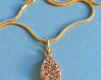 Golden Druzy Necklace