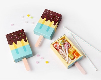 3 mint Ice cream shape gift boxes,gift boxes,cute gift box,kids party,favor box,ice cream,candy box,party favor box,chocolate box,treat box