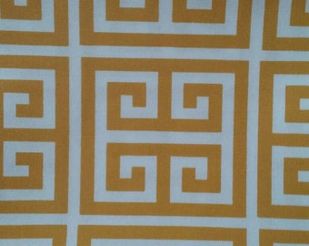 Home decor fabric, Yellow and white, Greek Key, Premier Prints Tower Corn Yellow, outdoor fabric, fabric remnants, outdoor decor