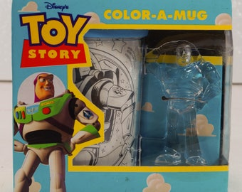 Disney TOY STORY Color a Mug New in Box From 1990'S Thinkway Toys