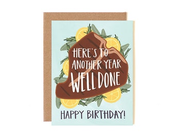 Here's to Another Year Well Done Illustrated Card // canoe2