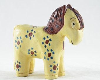Yellow Pony Folk Art