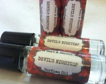 Devil's Nightcap Perfume Oil. 10 ml Roll On Glass Bottle. Lush Type.