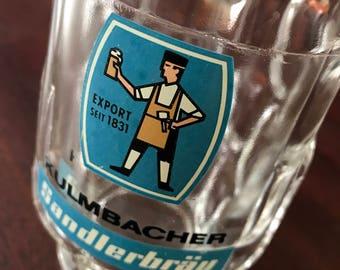 Kulmbacher Sandlerbrau Glass Dimppled Beer Stein