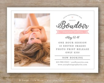 Boudoir Mini Session Template, Boudoir Photography Template, Boudoir Photographer Marketing