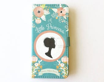 Book phone /iPhone flip Wallet case- A Little Princess  iPhone X, 8, 7, 6, 5, 6 7 & 8 plus, Samsung Galaxy S9 S8 S7 S6, S5 Note 4 5 7 8 LG
