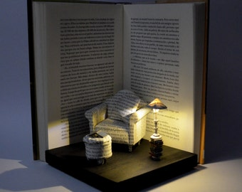 Diorama - Book Paper Diorama with light - Great Comfort