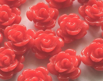 small rose / pink color red resin