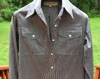 RARE Authentic Vintage YSL Yves Saint Laurent pinstripe shirt dress