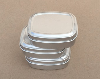 50ml Metal Tins, DIY Container, Small Storage Box, Small Organizer, Small Container, Blank Container