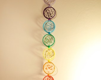 Large Chakra Dreamcatcher with crystals